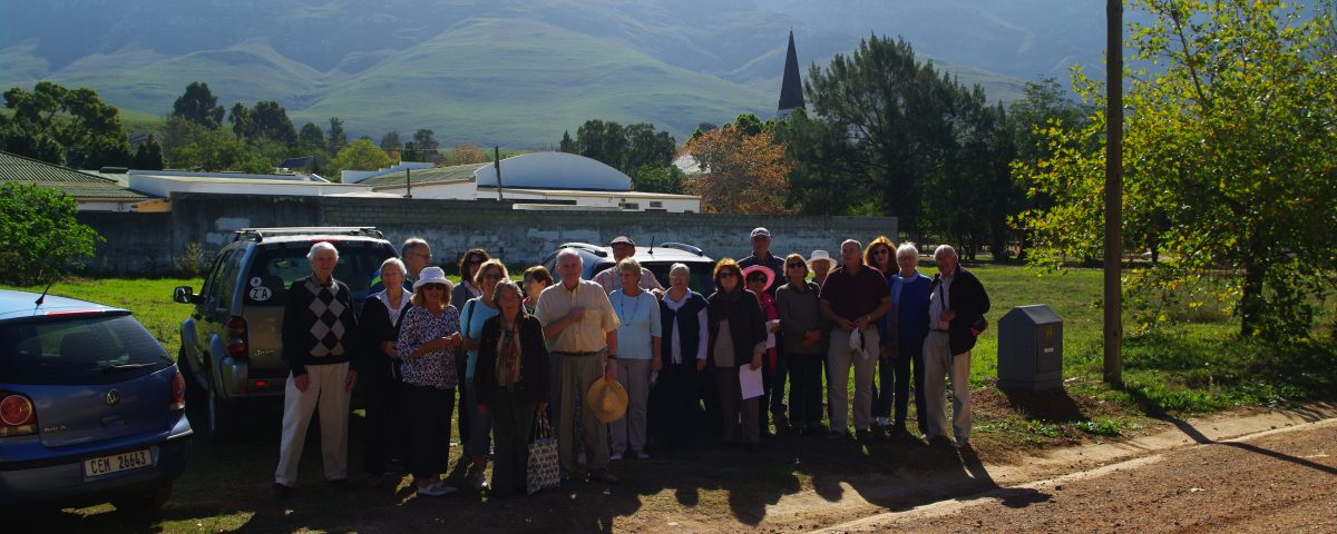 Members on site visit to Greyton 14 May 2018