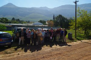 Members on site visit to Greyton 14 May 2018